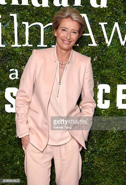 Emma Thompson attends the London Evening Standard British Film Awards at Television Centre on February 7 2016 in London England