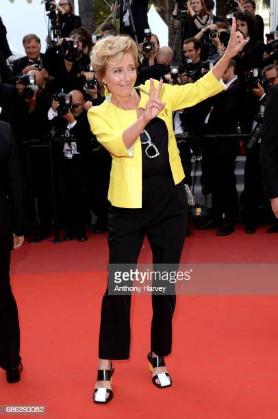 Emma Thompson attends the 'The Meyerowitz Stories' screening during the 70th annual Cannes Film Festival at Palais des Festivals on May 21 2017 in...
