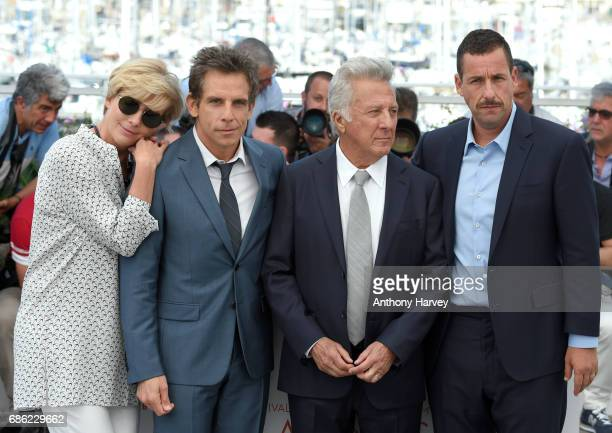 Emma Thompson Ben Stiller Dustin Hoffman and Adam Sandler attend the 'The Meyerowitz Stories' Photocall during the 70th annual Cannes Film Festival...