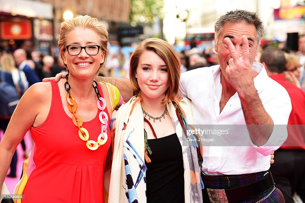 Emma Thompson, Gaia Romilly Wise and Greg Wise attend the UK premiere of 'Walking On Sunshine' at The Vue West End on June 11, 2014 in London, England.