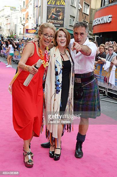Emma Thompson Gaia Wise and Greg Wise attend the UK Premiere of 'Walking On Sunshine' at the Vue West End on June 11 2014 in London England