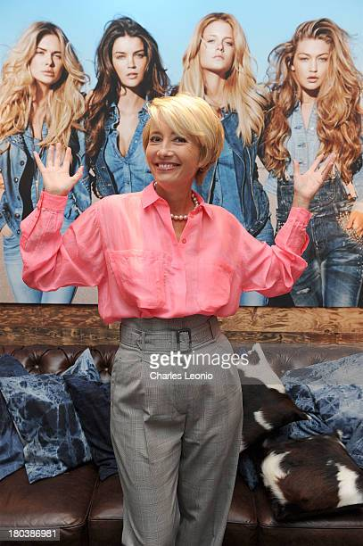 Emma Thompson poses at the Guess Portrait Studio on day 8 of the 2013 Toronto International Film Festival at Bell Lightbox on September 12 2013 in...