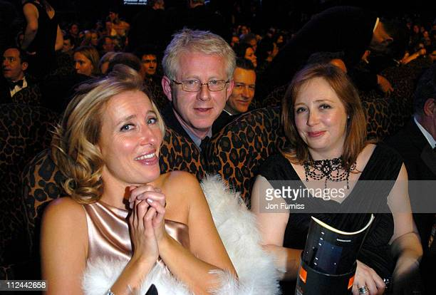 Emma Thompson Richard Curtis and wife Emma Freud during 2004 BAFTA Awards Backstage and Audience at The Odeon Leicester Square in London United...