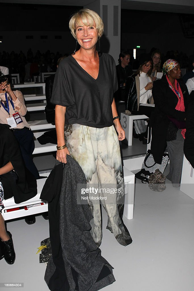 Emma Thompson seen at the Maria Grachvogel fashion show at Somerset House on September 17, 2013 in London, England.