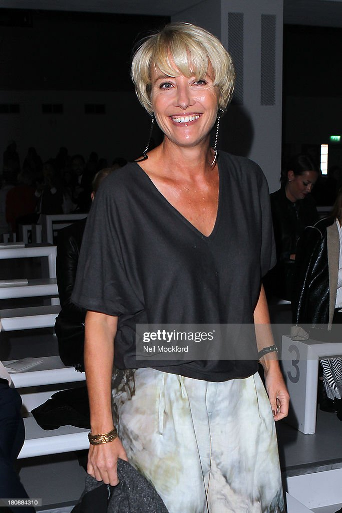 <a gi-track='captionPersonalityLinkClicked' href=/galleries/search?phrase=Emma+Thompson&family=editorial&specificpeople=202848 ng-click='$event.stopPropagation()'>Emma Thompson</a> seen at the Maria Grachvogel fashion show at Somerset House on September 17, 2013 in London, England.