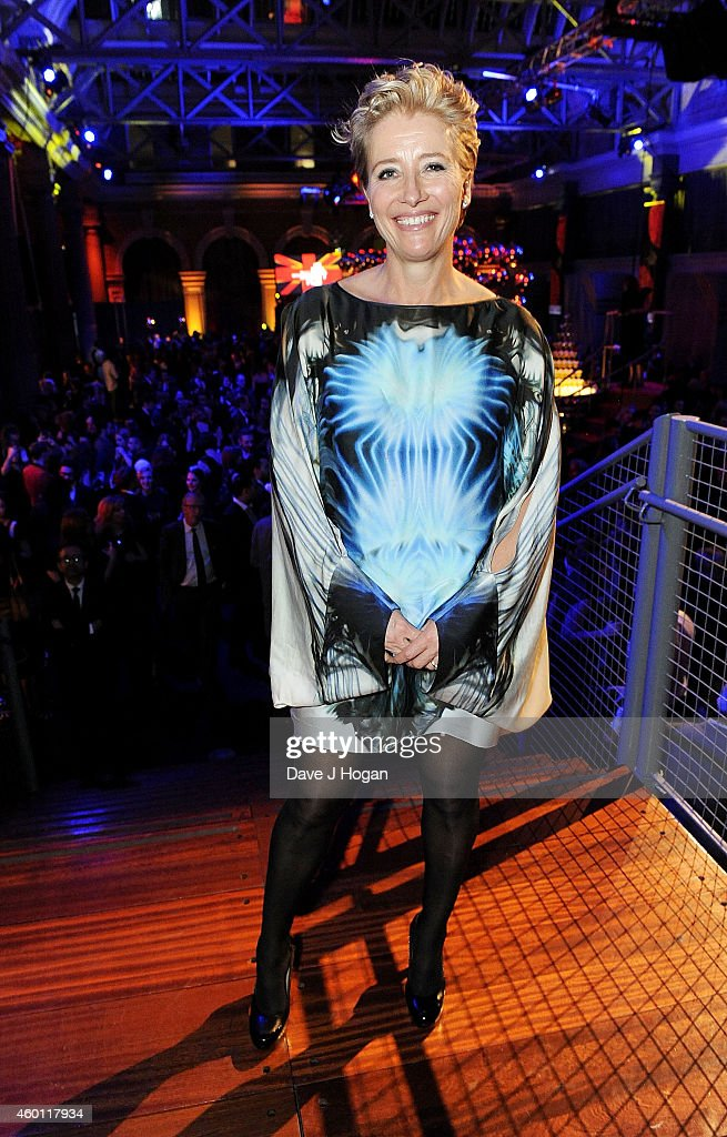 Emma Thompson, winner of the Richard Harris Award poses at an after party for the Moet British Independent Film Awards 2014 at Old Billingsgate Market on December 7, 2014 in London, England.