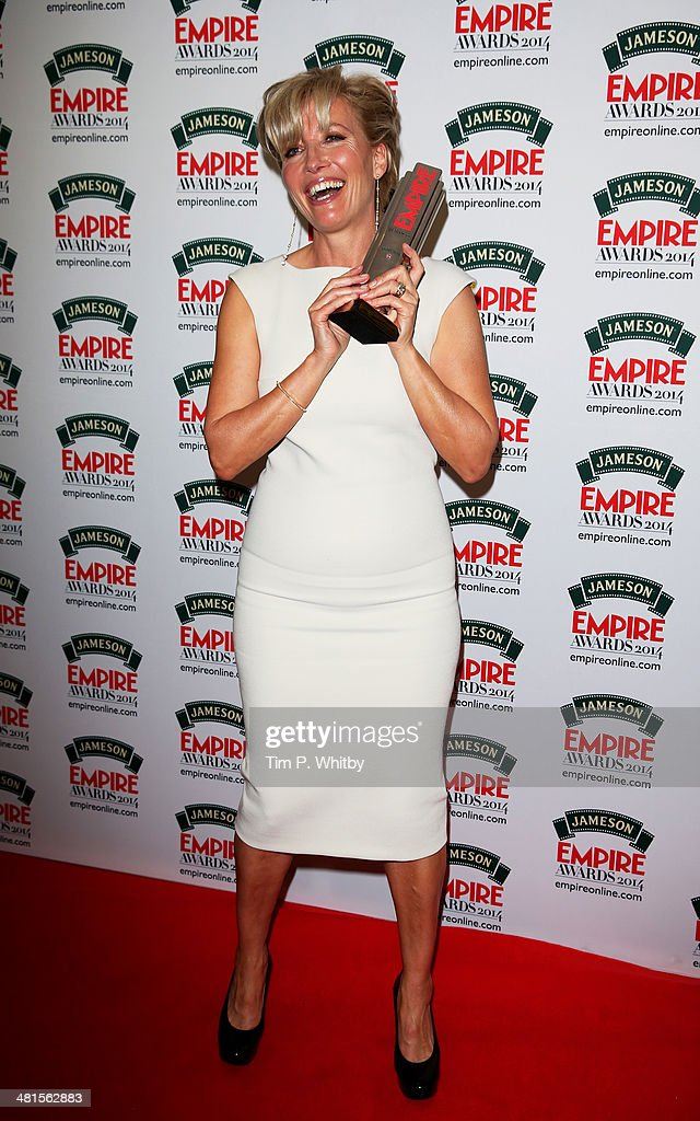 <a gi-track='captionPersonalityLinkClicked' href=/galleries/search?phrase=Emma+Thompson&family=editorial&specificpeople=202848 ng-click='$event.stopPropagation()'>Emma Thompson</a> with the Best Actress award for 'Saving Mr Banks' during the Jameson Empire Awards 2014 at the Grosvenor House Hotel on March 30, 2014 in London, England. Regarded as a relaxed end to the awards show season, the Jameson Empire Awards celebrate the film industry's success stories of the year with winners being voted for entirely by members of the public. Visit empireonline.com/awards2014 for more information.