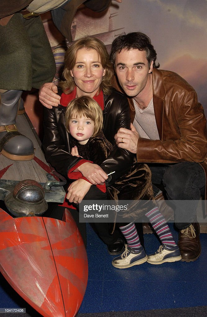 Emma Thopson And Partner Greg Wise With Their Daughter Gia With 'Jim Hawkins On His Solar Surfer ', Treasure Planet Movie Premiere Party At The Planetarium At Madame Tussauds, Saw The Guest Meet Up With Their Favorite Film Stars And The New Characters From The Movie.