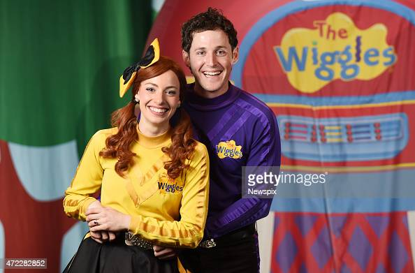 Emma Watkins and Lachlan Gillespie from children's band 'The Wiggles' who recently got engaged poses between shows at the Golden Grove Arts Centre on...