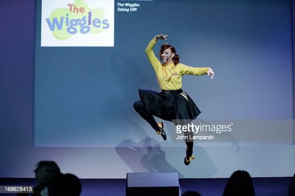 Emma Watkins of the Wiggles performs at the Apple Store Soho on May 12 2013 in New York City