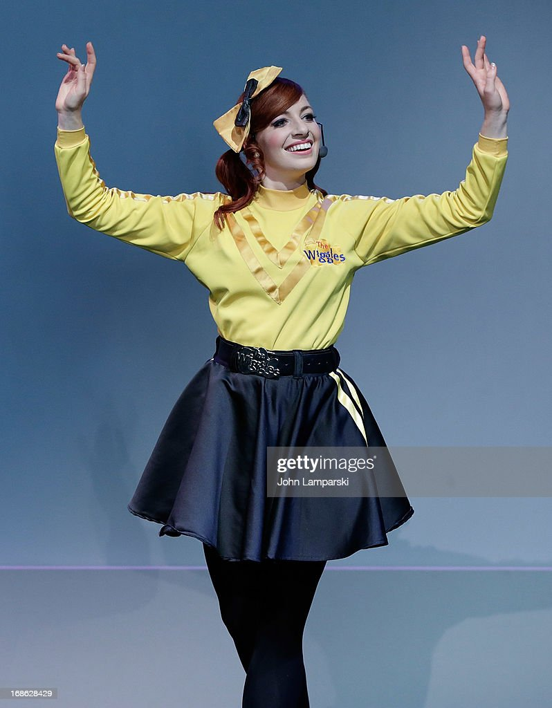 Emma Watkins of the Wiggles performs at the Apple Store Soho on May 12, 2013 in New York City.
