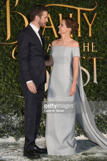 Emma Watson and Dan Stevens attend the UK launch event for 'Beauty And The Beast' at Spencer House on February 23 2017 in London England
