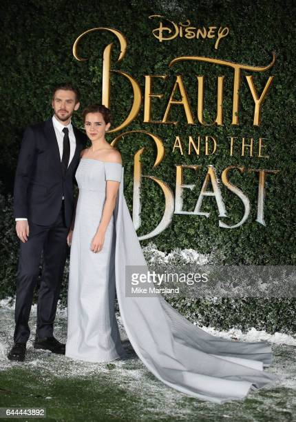 Emma Watson and Dan Stevens attend UK launch event for 'Beauty And The Beast' at Spencer House on February 23 2017 in London England