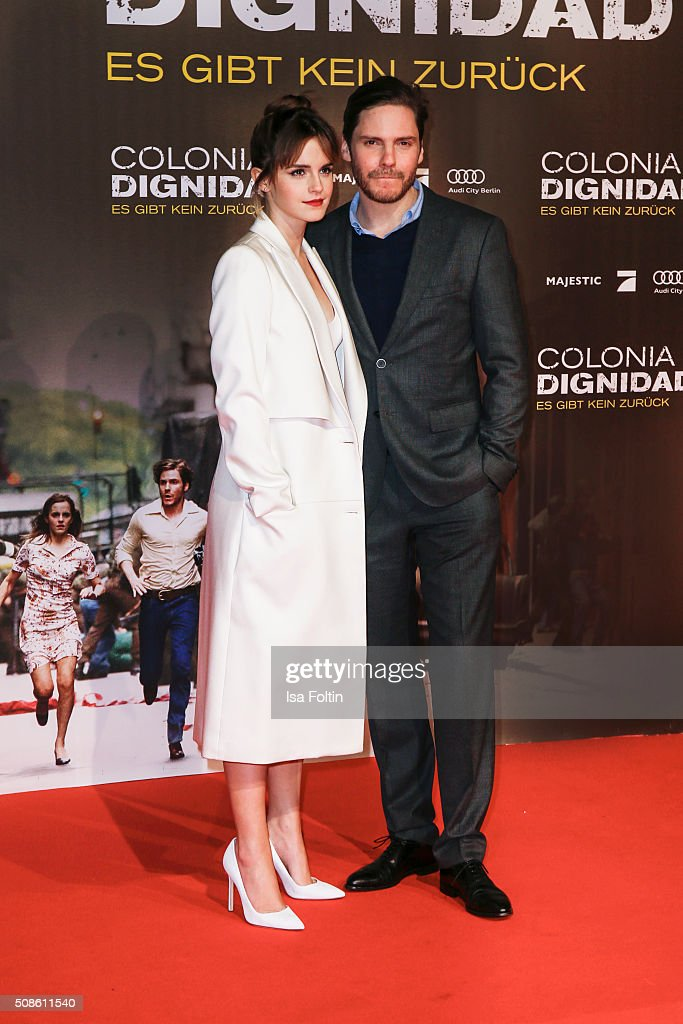 Emma Watson and Daniel Bruehl attend the 'Colonia Dignidad - Es gibt kein zurueck' Berlin Premiere on February 05, 2016 in Berlin, Germany.