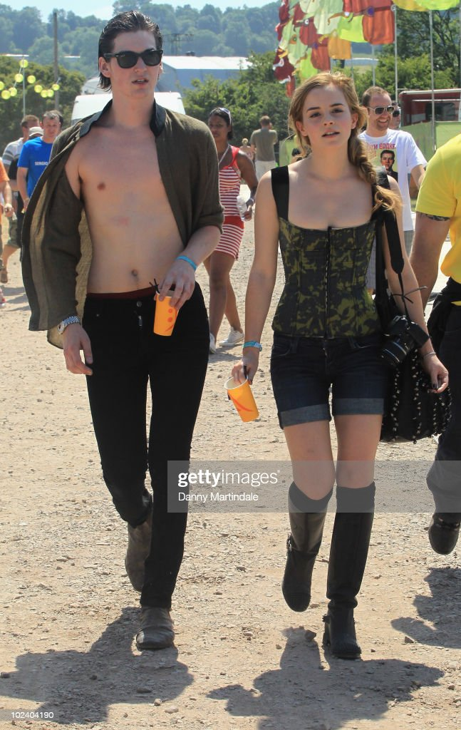 Emma Watson and George Craig attend at Glastonbury Festival at Worthy Farm on June 25, 2010 in Glastonbury, England.