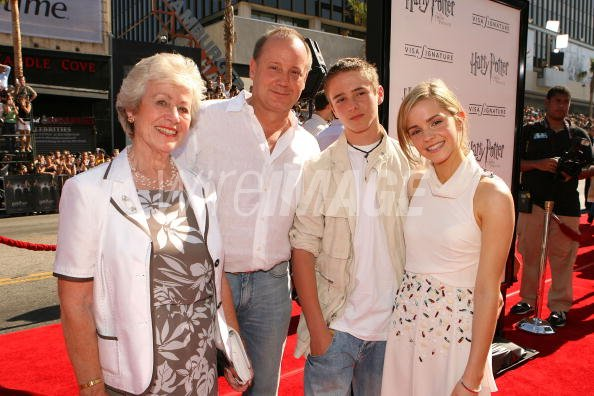 Emma Watson and her family at the Harry Potter and the ...
