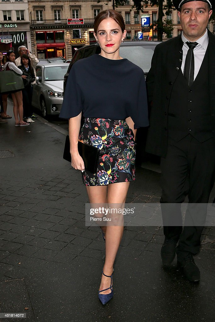 <a gi-track='captionPersonalityLinkClicked' href=/galleries/search?phrase=Emma+Watson&family=editorial&specificpeople=171373 ng-click='$event.stopPropagation()'>Emma Watson</a> arrives at a 'Dior' dinner on July 7, 2014 in Paris, France.