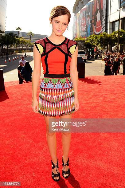 Emma Watson arrives at the 2012 MTV Video Music Awards at Staples Center on September 6 2012 in Los Angeles California