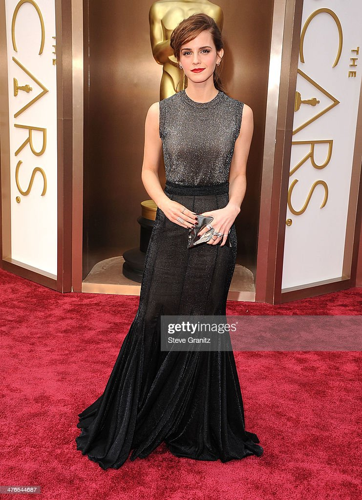Emma Watson arrives at the 86th Annual Academy Awards at Hollywood & Highland Center on March 2, 2014 in Hollywood, California.