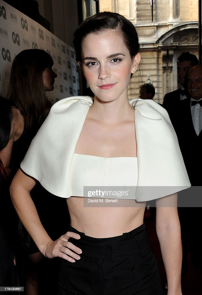Emma Watson arrives at the GQ Men of the Year awards at The Royal Opera House on September 3, 2013 in London, England.