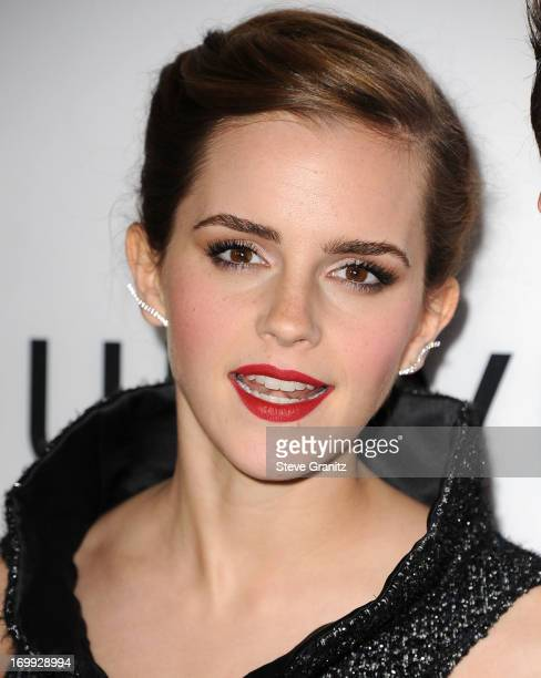 Emma Watson arrives at the 'The Bling Ring' Los Angeles Premiere at Directors Guild Of America on June 4 2013 in Los Angeles California