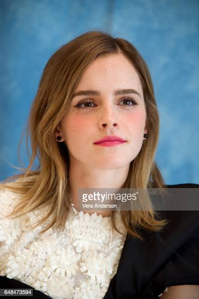 Emma Watson at the 'Beauty and the Beast' Press Conference at the Montage Hotel on March 5 2017 in Beverly Hills California