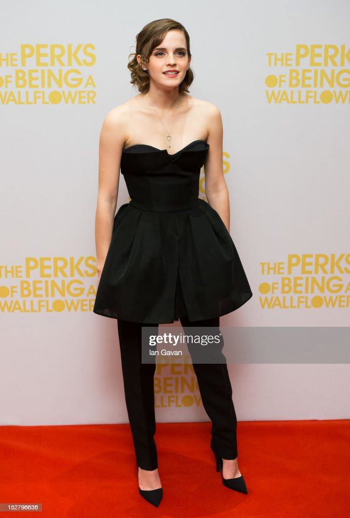 <a gi-track='captionPersonalityLinkClicked' href=/galleries/search?phrase=Emma+Watson&family=editorial&specificpeople=171373 ng-click='$event.stopPropagation()'>Emma Watson</a> attends a special screening of 'The Perks of Being The Wallflower' at The Mayfair Hotel on September 26, 2012 in London, England.