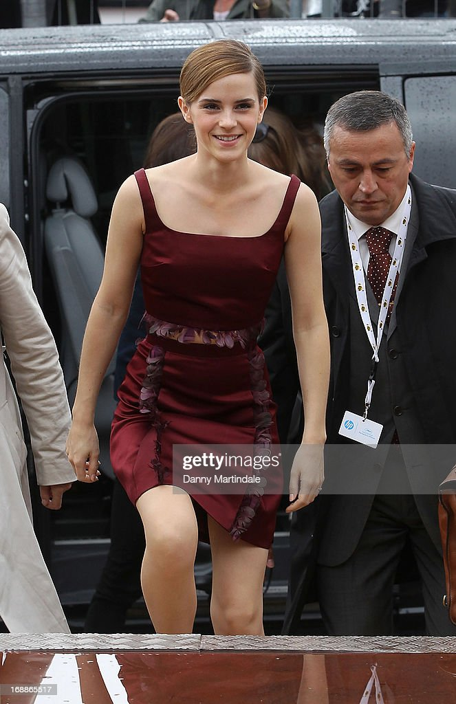 <a gi-track='captionPersonalityLinkClicked' href=/galleries/search?phrase=Emma+Watson&family=editorial&specificpeople=171373 ng-click='$event.stopPropagation()'>Emma Watson</a> attends day 2 of the 66th Annual Cannes Film Festival on May 16, 2013 in Cannes, France.