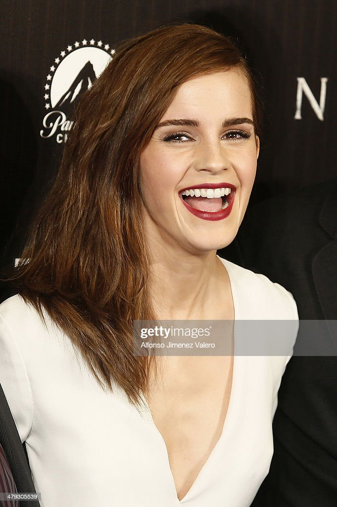 Emma Watson attends 'Noe' Madrid Premiere at Palafox Cinema on March 17, 2014 in Madrid, Spain.