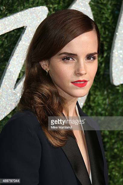 Emma Watson attends the British Fashion Awards at London Coliseum on December 1 2014 in London England