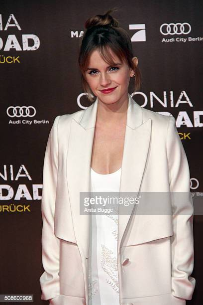 Emma Watson attends the 'Colonia Dignidad Es gibt kein zurueck' Berlin premiere at CineStar on February 5 2016 in Berlin Germany