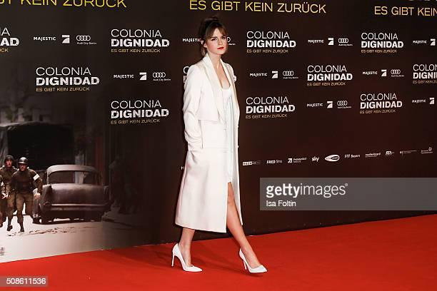 Emma Watson attends the 'Colonia Dignidad Es gibt kein zurueck' Berlin Premiere on February 05 2016 in Berlin Germany