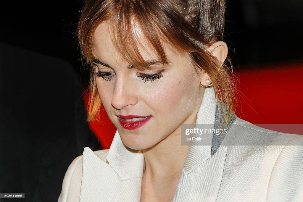 <a gi-track='captionPersonalityLinkClicked' href=/galleries/search?phrase=Emma+Watson&family=editorial&specificpeople=171373 ng-click='$event.stopPropagation()'>Emma Watson</a> attends the 'Colonia Dignidad - Es gibt kein zurueck' Berlin Premiere on February 05, 2016 in Berlin, Germany.