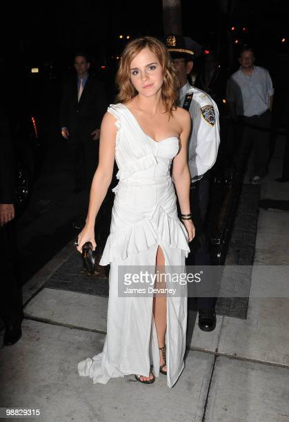 Emma Watson attends the Costume Institute Gala after party at the Mark hotel on May 3 2010 in New York City