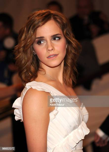 Emma Watson attends the Costume Institute Gala Benefit to celebrate the opening of the 'American Woman Fashioning a National Identity' exhibition at...