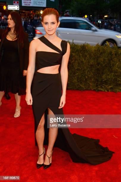 Emma Watson attends the Costume Institute Gala for the 'PUNK Chaos to Couture' exhibition at the Metropolitan Museum of Art on May 6 2013 in New York...