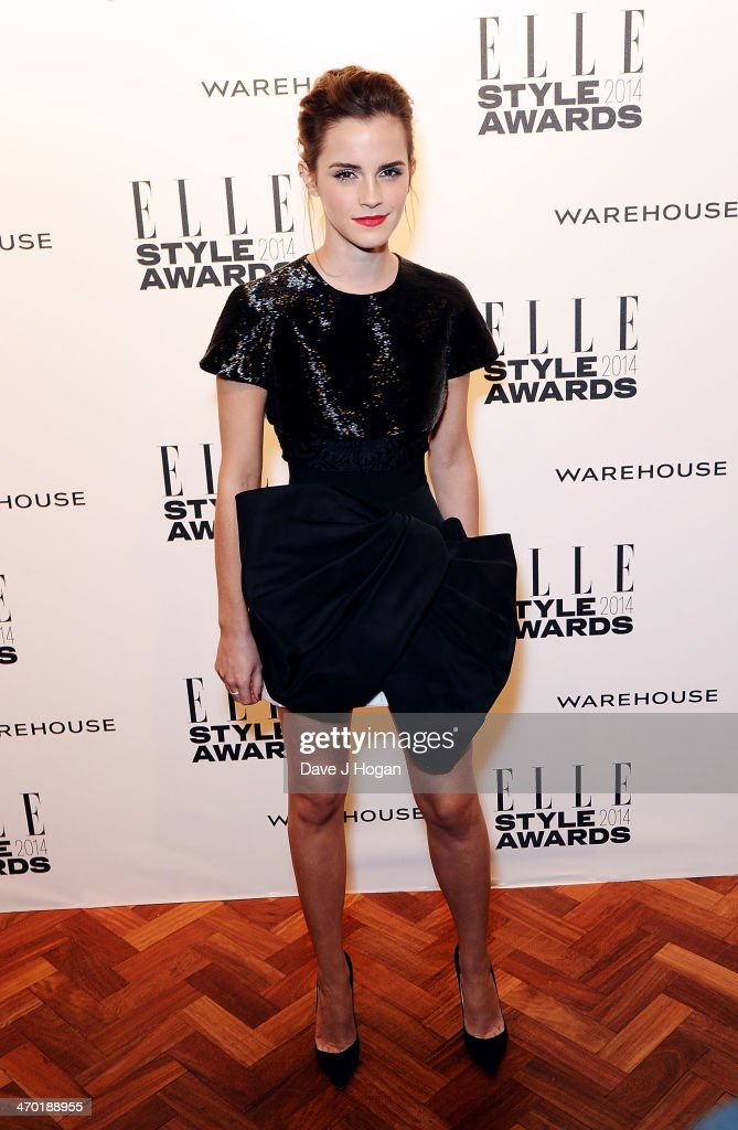 <a gi-track='captionPersonalityLinkClicked' href=/galleries/search?phrase=Emma+Watson&family=editorial&specificpeople=171373 ng-click='$event.stopPropagation()'>Emma Watson</a> attends the Elle Style Awards 2014 at one Embankment on February 18, 2014 in London, England.