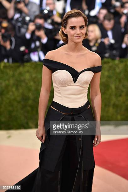 Emma Watson attends the 'Manus x Machina Fashion In An Age Of Technology' Costume Institute Gala at Metropolitan Museum of Art on May 2 2016 in New...