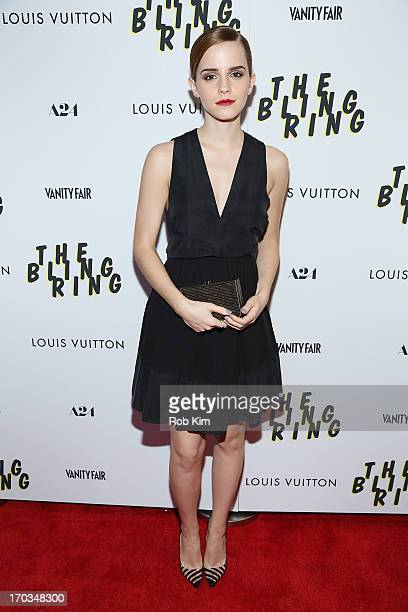 Emma Watson attends the New York screening of A24's THE BLING RING presented by Louis Vuitton and Vanity Fair at Paris Theatre on June 11 2013 in New...