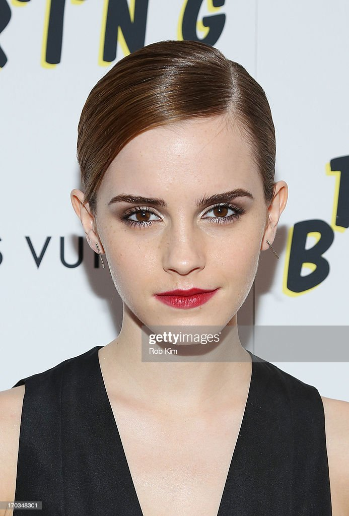 <a gi-track='captionPersonalityLinkClicked' href=/galleries/search?phrase=Emma+Watson&family=editorial&specificpeople=171373 ng-click='$event.stopPropagation()'>Emma Watson</a> attends the New York screening of A24's THE BLING RING presented by Louis Vuitton and Vanity Fair at Paris Theatre on June 11, 2013 in New York City.
