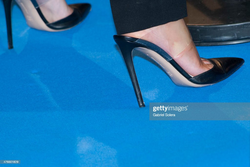 Emma Watson (shoe detail) attends the 'Noe' Madrid Premiere at Palafox Cinema on March 17, 2014 in Madrid, Spain.