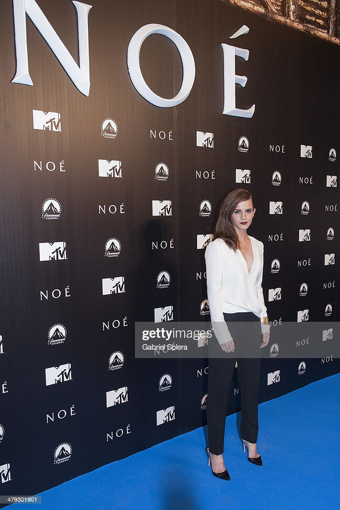 <a gi-track='captionPersonalityLinkClicked' href=/galleries/search?phrase=Emma+Watson&family=editorial&specificpeople=171373 ng-click='$event.stopPropagation()'>Emma Watson</a> attends the 'Noe' Madrid Premiere at Palafox Cinema on March 17, 2014 in Madrid, Spain.