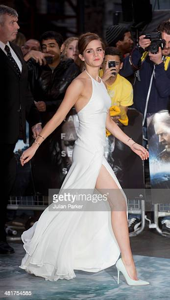 Emma Watson attends the UK premiere of 'Noah' at Odeon Leicester Square on March 31 2014 in London England