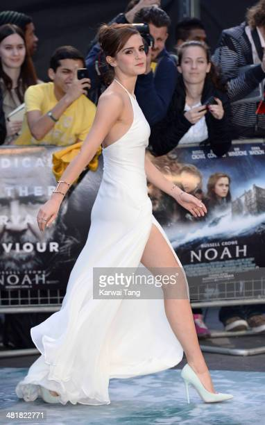 Emma Watson attends the UK premiere of 'Noah' held at the Odeon Leicester Square on March 31 2014 in London England