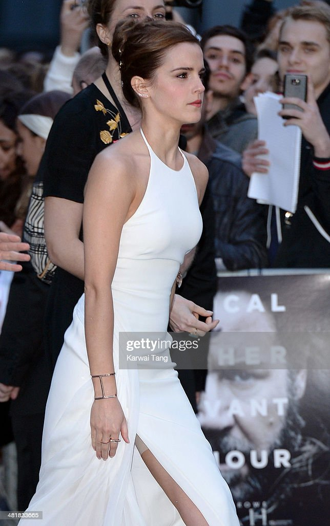 <a gi-track='captionPersonalityLinkClicked' href=/galleries/search?phrase=Emma+Watson&family=editorial&specificpeople=171373 ng-click='$event.stopPropagation()'>Emma Watson</a> attends the UK premiere of 'Noah' held at the Odeon Leicester Square on March 31, 2014 in London, England.