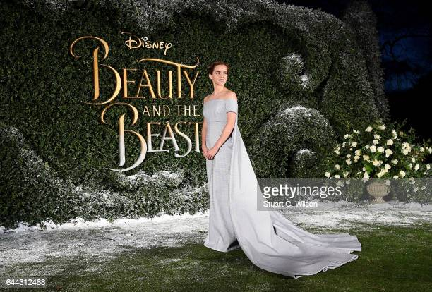 Emma Watson attends UK launch event for Disney's 'Beauty And The Beast' at Spencer House on February 23 2017 in London England