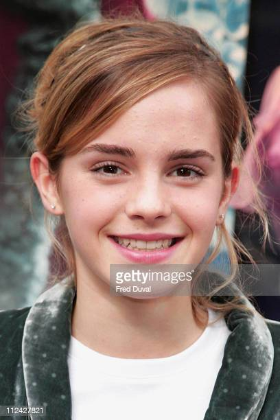 Emma Watson during Emma Watson Launches 'Harry Potter and the Goblet of Fire' DressUp Line October 30 2005 at Marks Spencer in London Great Britain