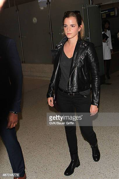 Emma Watson is seen at LAX on September 07 2015 in Los Angeles California