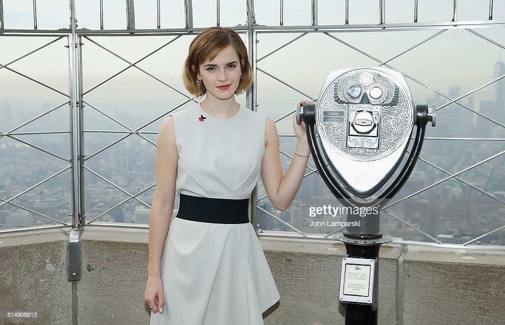 Emma Watson & Chirlane McCray Light The Empire State Building For International Women's Day and The Launch Of HeForShe Arts Week