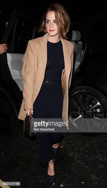 Emma Watson seen arriving at a screening for new documentary 'The True Cost' on December 8 2015 in London England